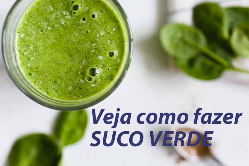 Veja como fazer suco verde